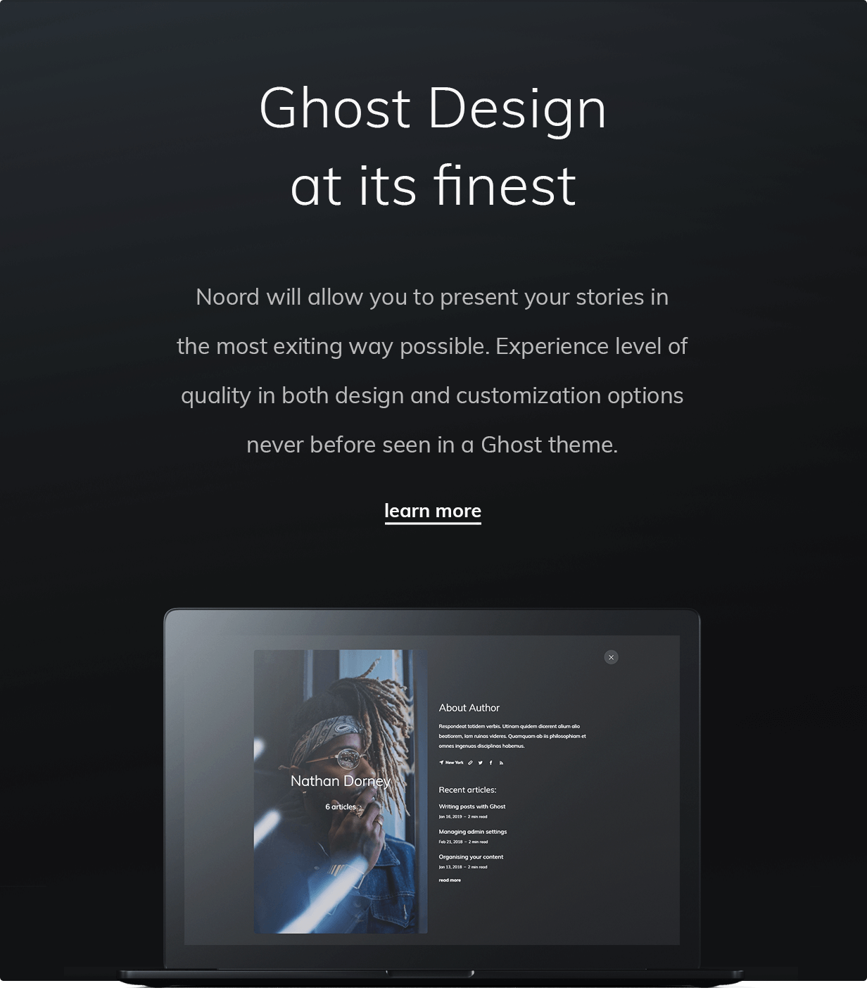 Ghost Design at its finest